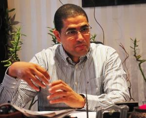 Mohamed Abu Hamed talks to the DNE at his Mohandessin office