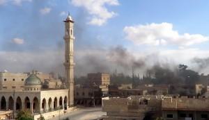 "Air raids around Maaret al-Numan were the ""most violent"" since insurgents captured the strategic town last week. (AFP Photo)"